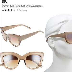 BP two tone beige cat eye sunglasses